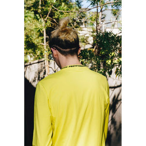 Logo Mock Neck Long Sleeve Yellow