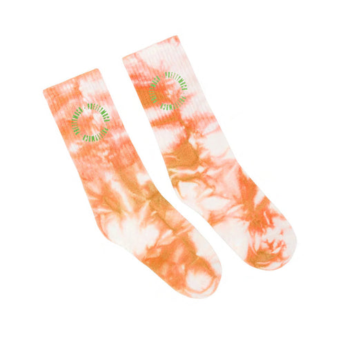 Orange Tie Dye Socks