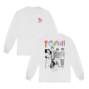 PM Embroidered Logo Long Sleeve Tee