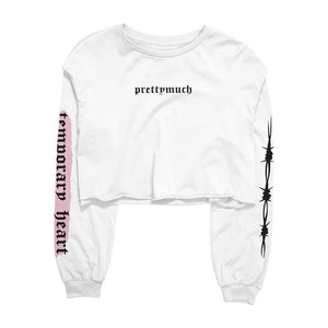 Temporary Heart Long Sleeve Crop Tee