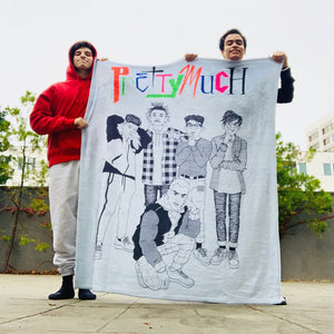Pretty Much Illustration Fleece Blanket