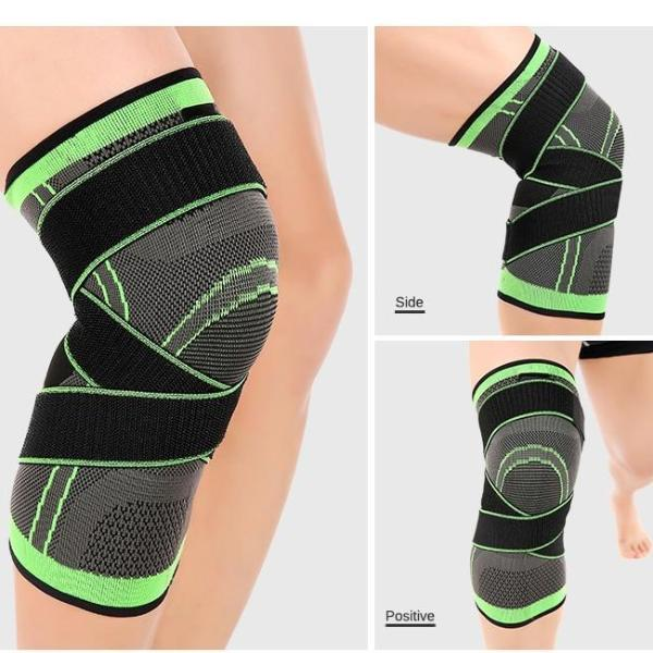 feddbac84d ... Knee Compression Sleeve Brace Deluxe with Patella Stabilizer Straps for  Fitness, Running, Cycling, ...