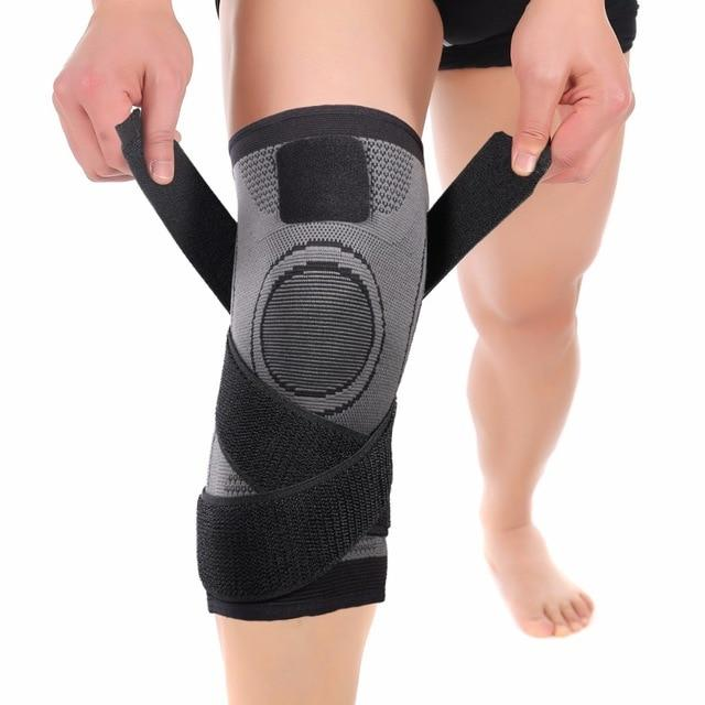 2b447ef69a Knee Compression Sleeve Brace Deluxe with Patella Stabilizer Straps for  Fitness, Running, Cycling, ...