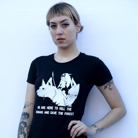 PRINCESS MONONOKE Shirt Black/White on Model