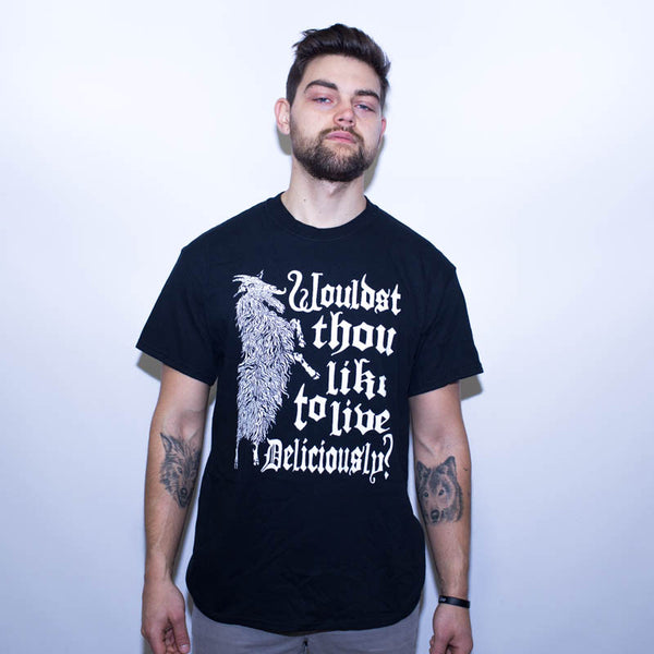 LIVE DELICIOUSLY THE WITCH SHIRT BLACK