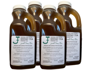 4 quarts (3.6L) Ready to drink liquid Essiac tea - $5.00 savings!