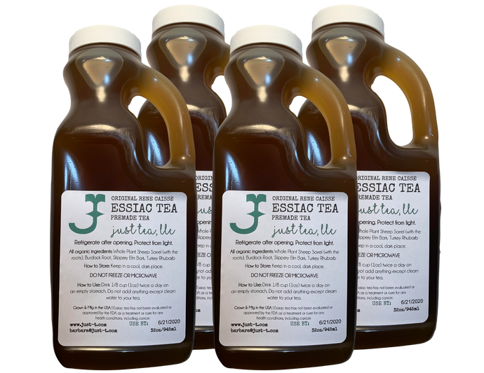 4 quarts (3.6L) Ready to drink liquid Essiac tea