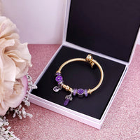 Pops of Purple - Built Bracelet in Small