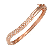 Rose Gold Wave Bangle