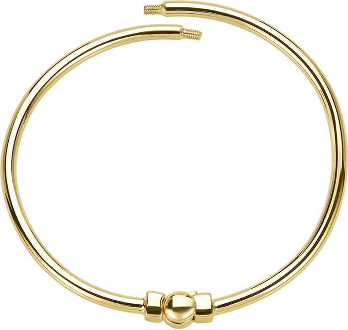 Gold polished bangle bracelet to be used with DBW interchangeable bangle balls