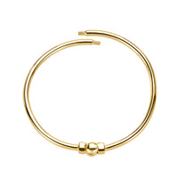 Golden Polished Bangle Bracelet in Small/Medium