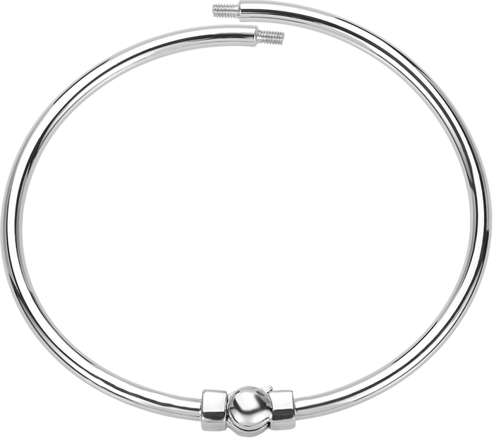 Silver polished bangle bracelet to be used with DBW interchangeable bangle balls