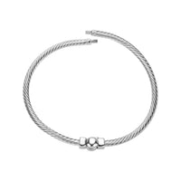 Cable Design Bangle Bracelet in Small/Medium
