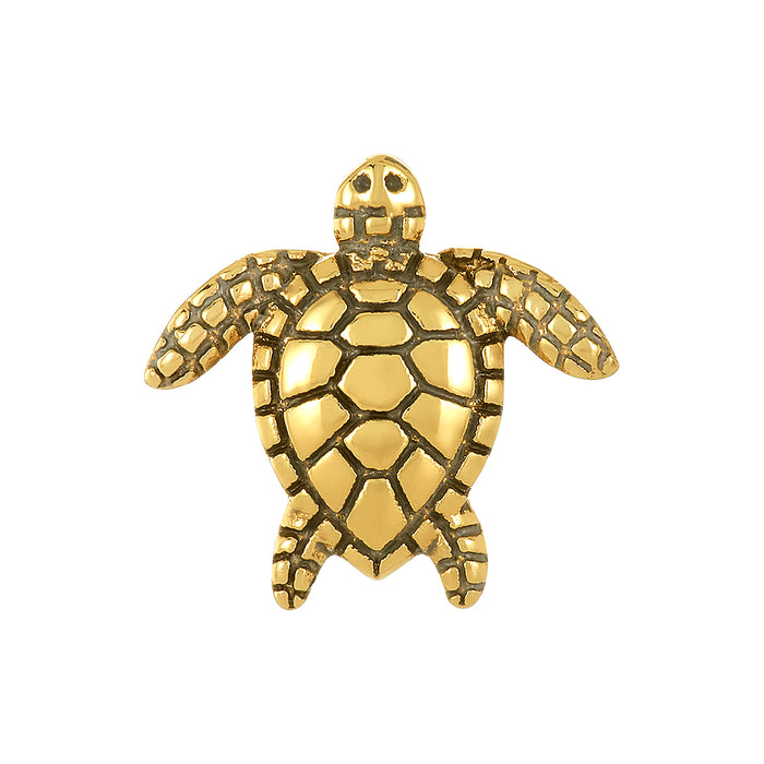 Golden Sea Turtle Bead