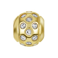 Golden Scattered CZ Bead