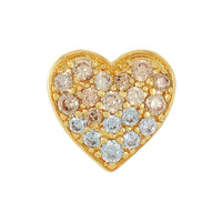 Golden Ombre Heart Bead