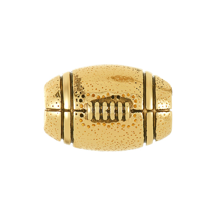 Golden Football Bead