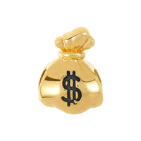 Golden Money Bag Bead