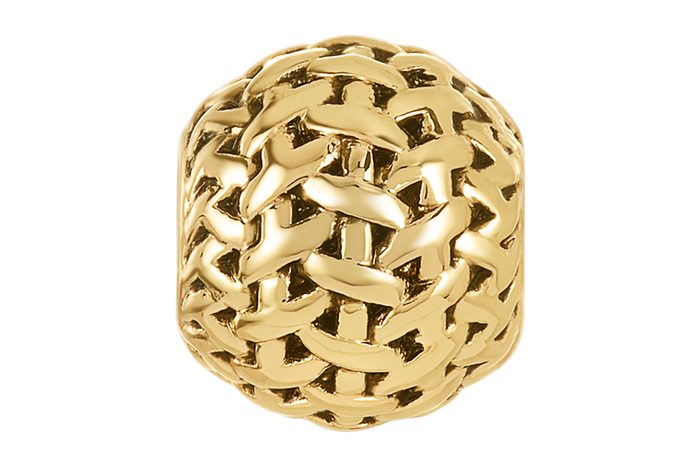 Gold weaved design bead for DBW jewelry