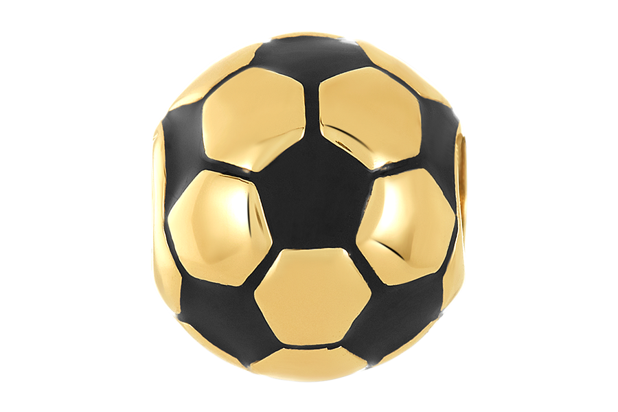 Golden Soccer Ball Bead