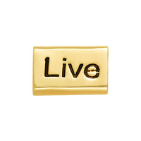 Golden Live, Love, Laugh Bead
