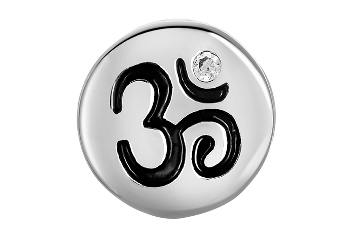 Silver OM bead for DBW Jewelry