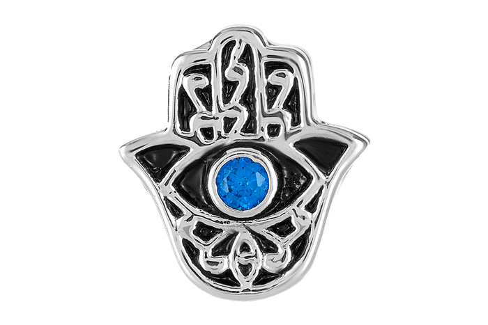 Silver hamsa bead for DBW Jewelry