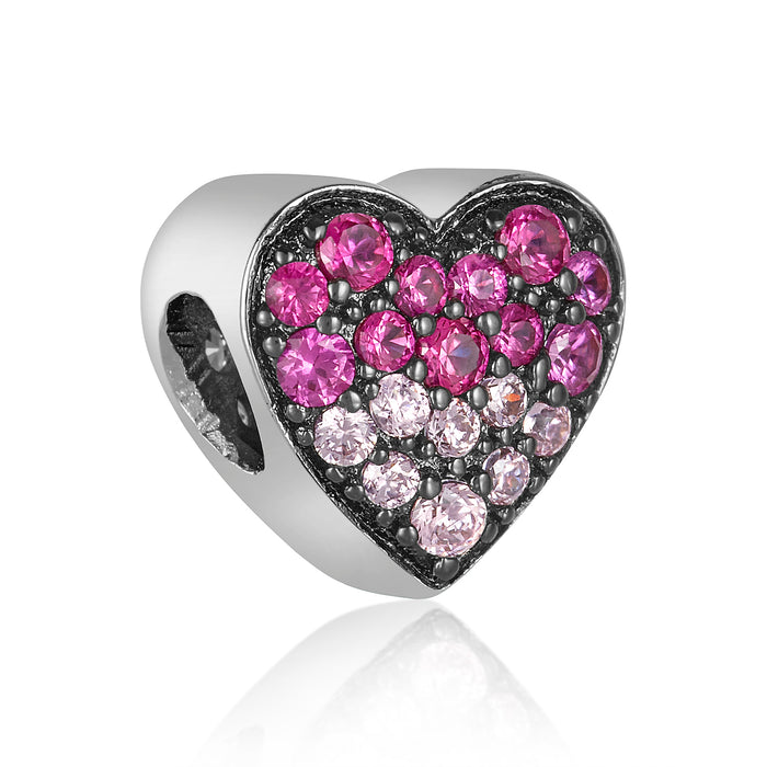 Pink Ombre Heart Bead