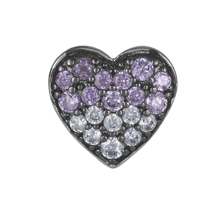 Purple Ombre Heart Bead
