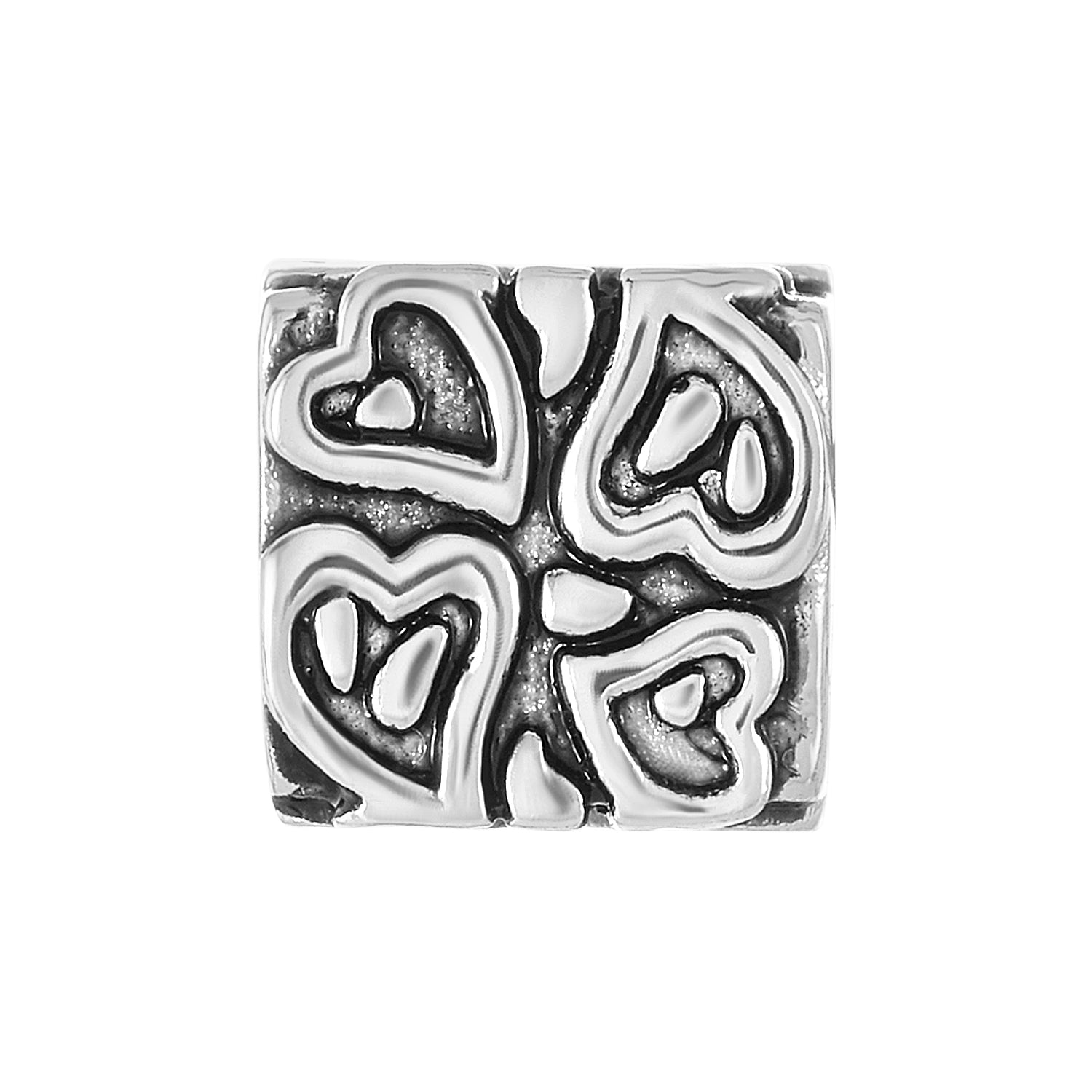 Imprinted Heart Bead