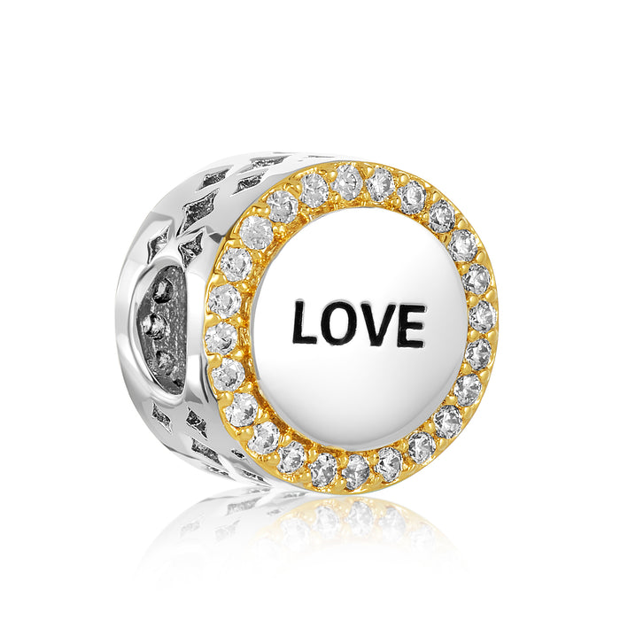 Love bead for use with DBW interchangeable bracelets