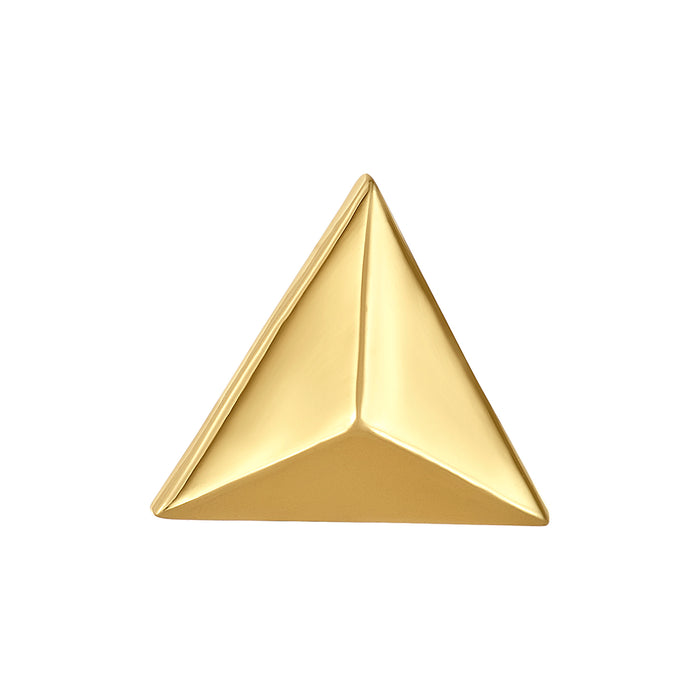 Golden Geometric Triangle  Bangle Ball Pair