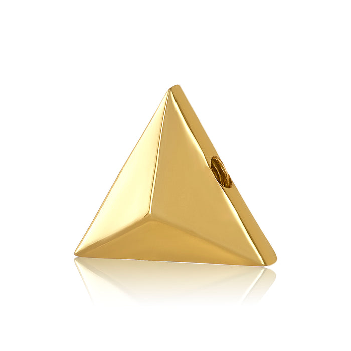 Gold triangle shaped bangle ball to be used with DBW interchangeable bangle bracelets.  Bangle balls sold as pair.
