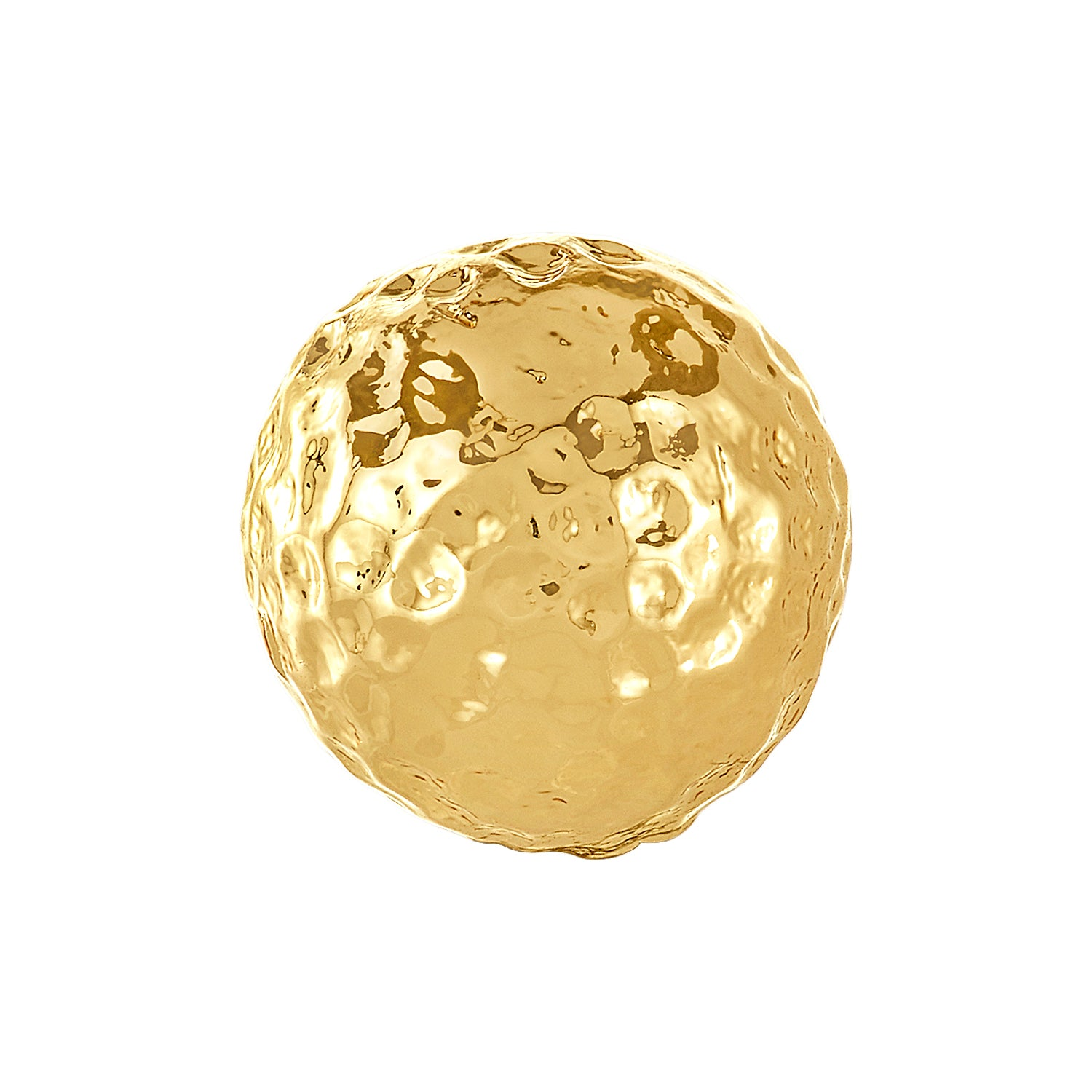 Golden Hammered Bangle Ball Pair