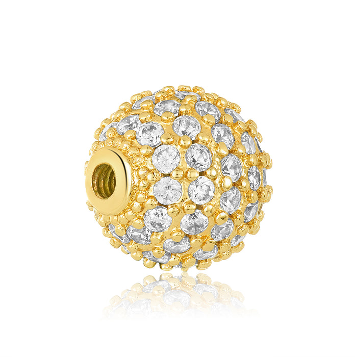 Dazzling Golden Studded Bangle Ball Pair