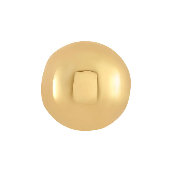 Golden Round Polished Bangle Ball Pair