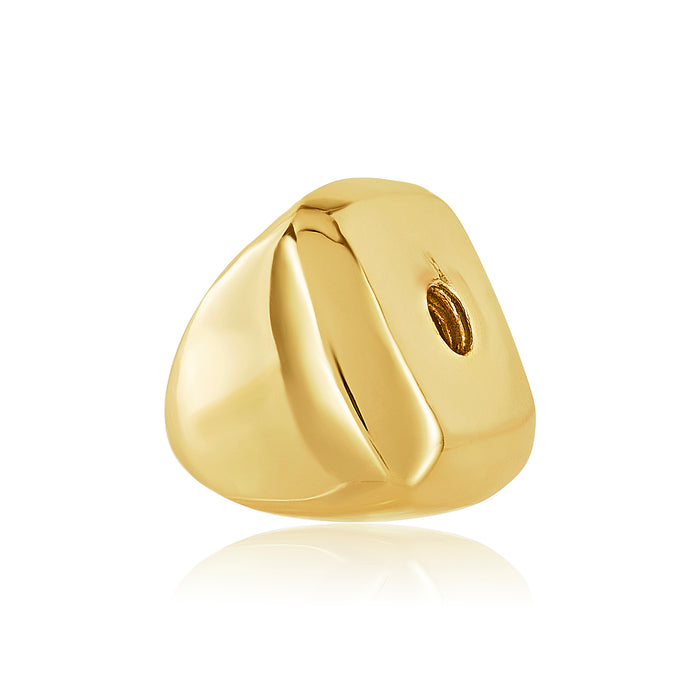 Gold geometric shaped bangle ball to be used on DBW interchangeable bangle bracelets. Bangle balls sold in pairs.