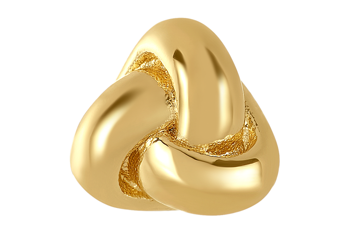 Gold love knot shaped bangle ball for use with DBW interchangeable bangle bracelets. Bangle balls sold as pair.