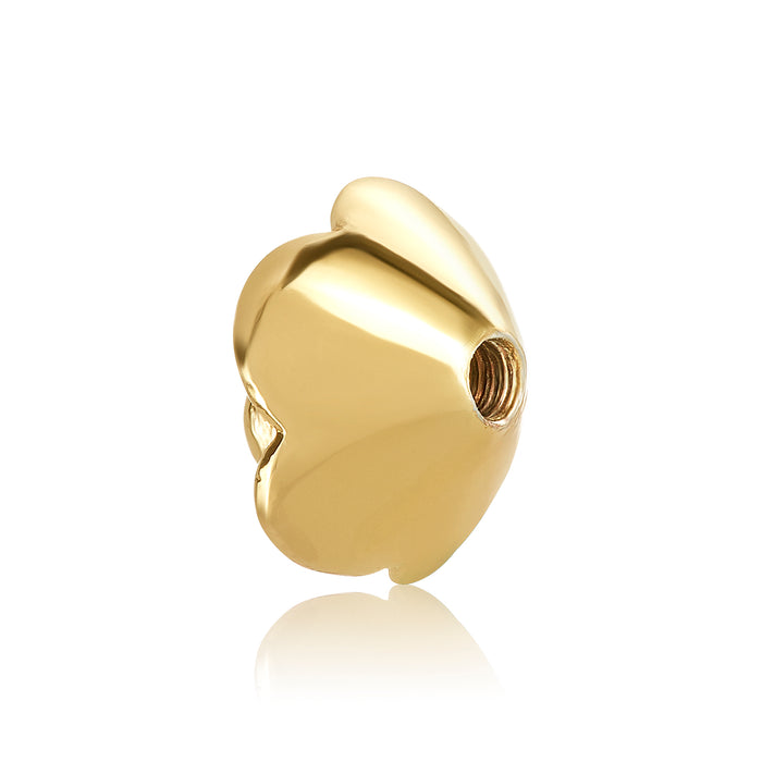 Gold rose shaped bangle ball to be used on DBW interchangeable bangle bracelets. Gold bangle balls sold as pair.