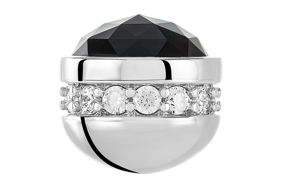 Jet CZ Blingy Bangle Ball Pair