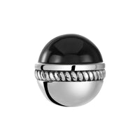 Caboshon Black Bangle Ball Pair
