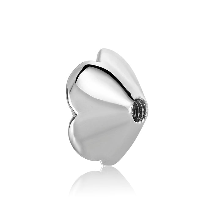 Silver rose shaped bangle ball to be used on DBW interchangeable bangle bracelets.  Silver bangle balls sold as pair.
