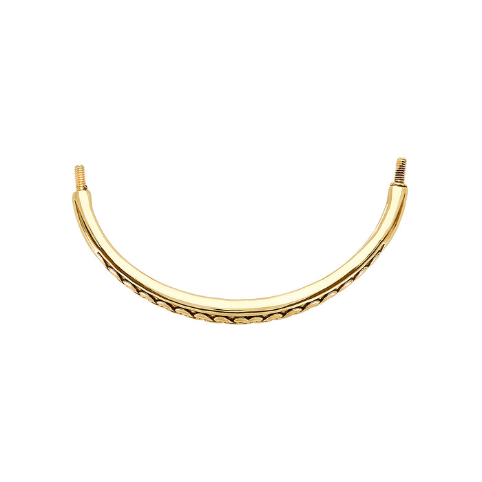Golden Weave Fashion Bracelet Bar, Large