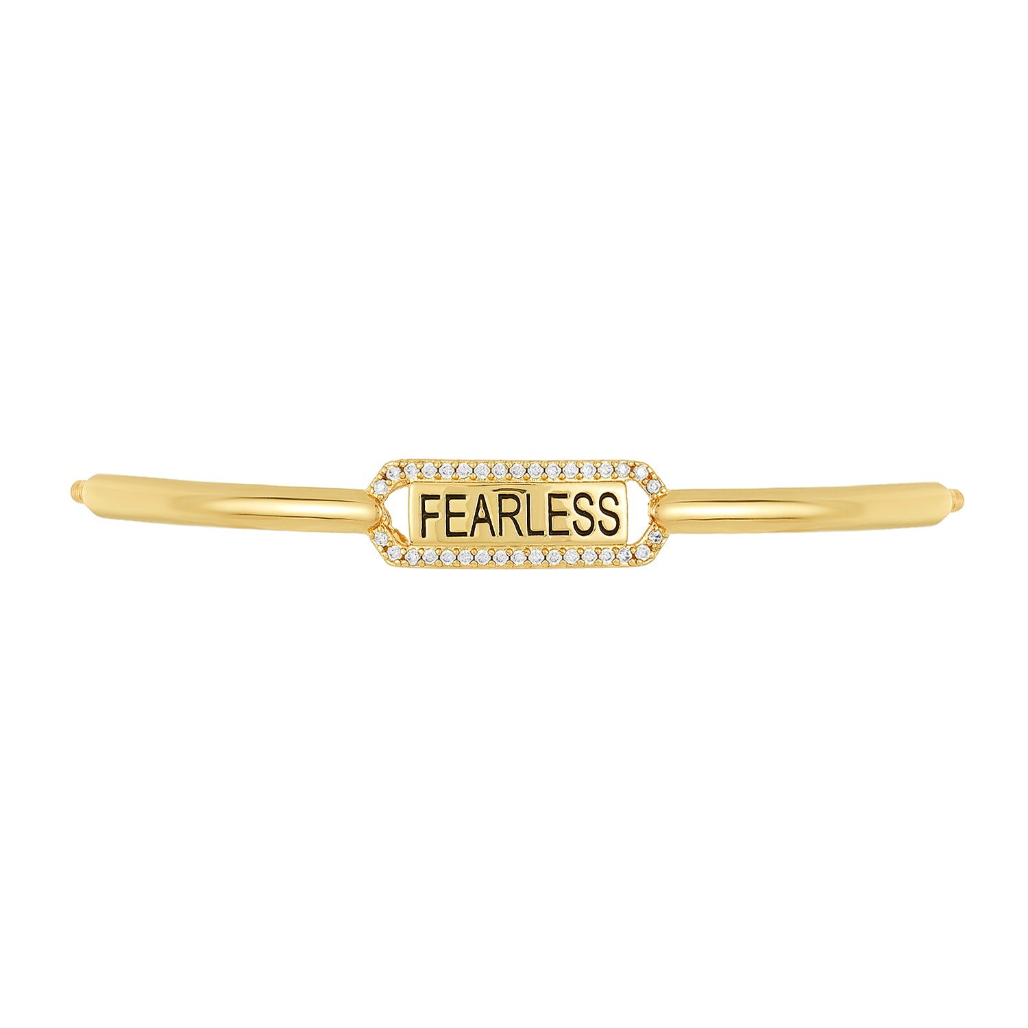 Golden Fearless Bracelet Bar, Large