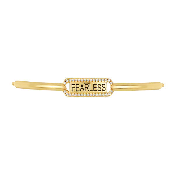 "Golden ""Fearless"" Bracelet Bar, Small"