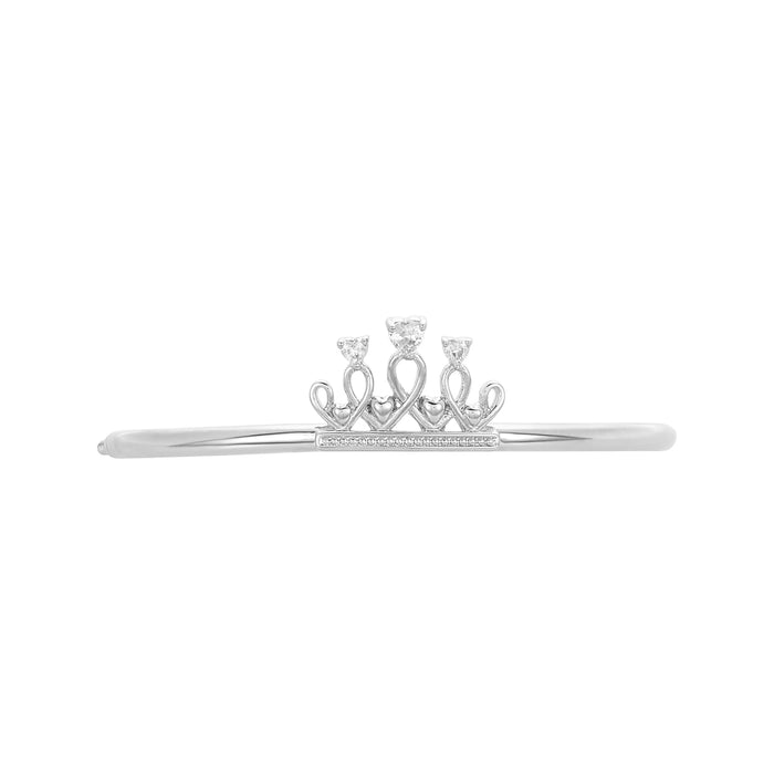Crown Charm & Bead Bracelet Bar, Small