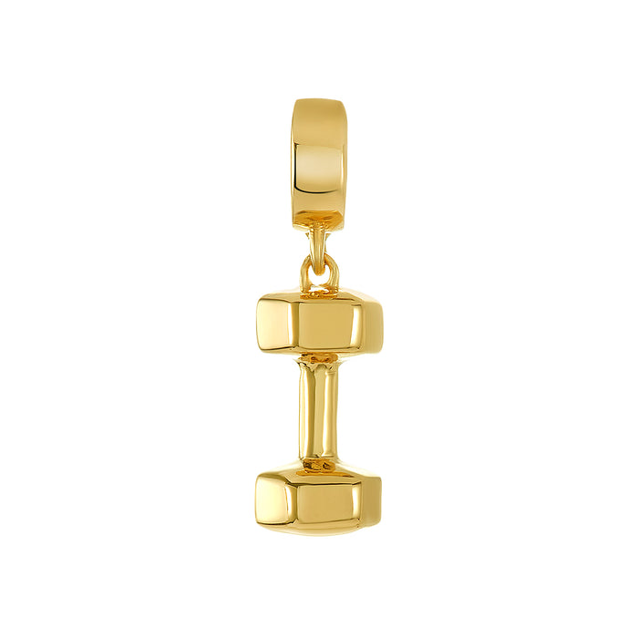 Golden Dumbbell Charm