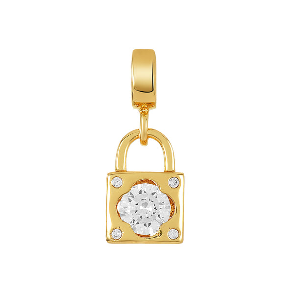 Golden Lucky Lock Charm