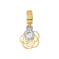 Golden Rose Charm