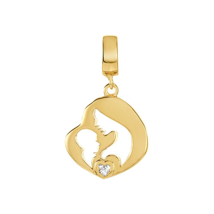 Golden Mother and Child Charm